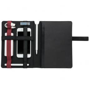 Taccuino A5 con tris di elastici porta accessori e chiusura magnetica....