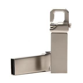 Chiavetta di memoria da 8GB in metallo satinato, con gancio. Diritti S...