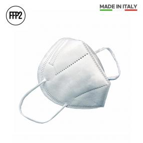 Maschera FFP2 Made in Italy, bianca, DPI Certificata CE0477. Imbustata...