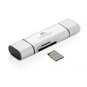 Lettore di schede SD universale 3 in 1 con plug USB 2.0, type C e micr...