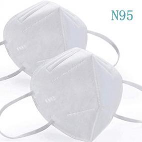 Mascherina filtrante N95/KN95 a 4 strati con elastici laterali per ind...
