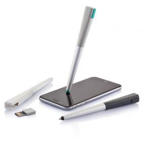 Penna touchscreen con chiavetta di memoria USB da 8GB. Corpo arrotonda...