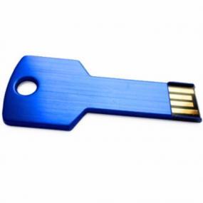 Chiavetta di memoria da 4GB in alluminio a forma di chiave. Diritti SI...