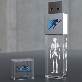 Mini chiavetta di memoria in cristallo da 4GB, con il vostro logo inci...