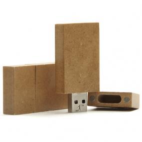 Chiavetta di memoria USB da 4GB in carta riciclata. Su richiesta è po...