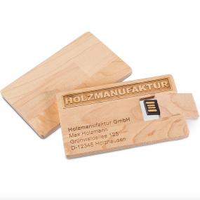 Chiavetta di memoria USB da 4GB in legno. Su richiesta è possibile av...