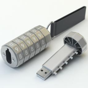 Chiavetta Cryptex 16GB USB 3.0, con combinazione a 5 numeri e laccetto...