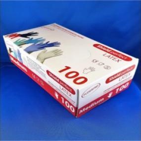 Confezione 100 guanti LATTICE naturale non talcati, DPI di cat.III, DM...