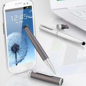 Penna a sfera 3 in 1 con chiavetta 8GB e touch screen. Su richiesta è...
