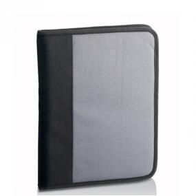 Porta blocco con cerniera in tessuto 600D, tasche interne e porta penn...