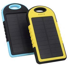Power bank solare da 4000mAh rivestito in gomma protettiva, completo d...