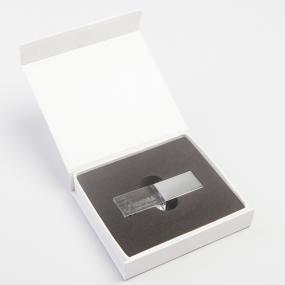 Esclusiva Chiavetta di Memoria USB da 4GB in cristallo ed acciaio luci...