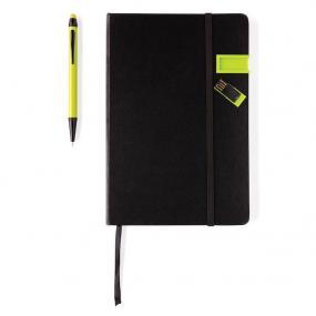Taccuino A5 con chiavetta 8GB, penna touchscreen in alluminio dello st...