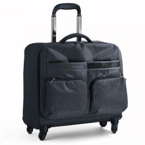 Elegante trolley business in tessuto melange. Comparto principale con ...