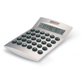Calcolatrice 12 cifre da tavolo solare o a batteria. In...