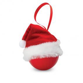 Palla di Natale con cappello di Santa Claus in feltro e...