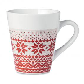 Tazza in ceramica (340ml) con decorazioni nordiche. Con...