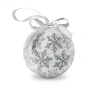 Palle di Natale perlate con nastro. Confezionate in sca...