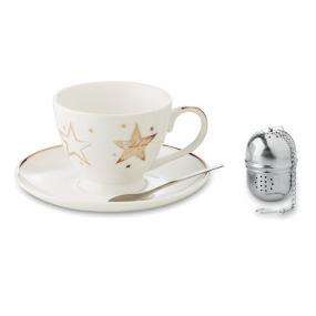 Set da thè composto da mug con disegni di stelle, cucc...
