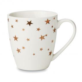 Mug in ceramica con disegni color oro. Confezionato in ...