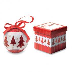 Palla di Natale con finitura perlata in scatola regalo ...