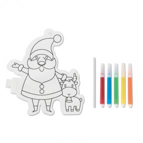 Set per colorare con Babbo Natale. Include 5 pennarelli...