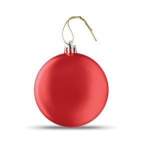 Palla di Natale piatta in PP con finitura metallizzata ...