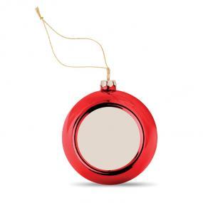 Palla di Natale in PP lucido con piastra per sublimazio...