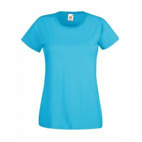 T-shirt donna, maniche corte, aderente. Bianco: 160 g/m...