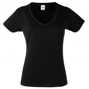 T-shirt donna a maniche corte. Bianco: 166 g/m2. Nero: ...