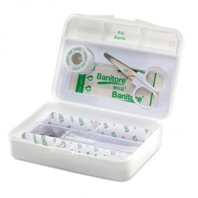 Kit Primo Soccorso in confezione di plastica: forbici, ...