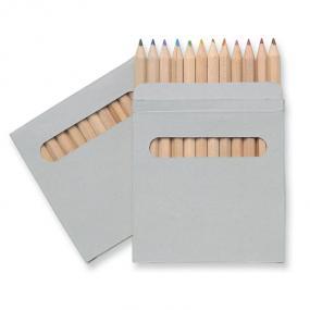 Set 12 matite colorate in confezione di cartone.