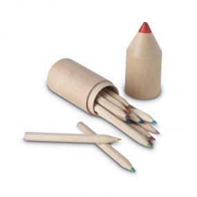 Set 12 matite in legno in confezione di legno a forma d...