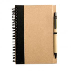 Notebook (70 fogli neutri) in carta riciclata con penna...