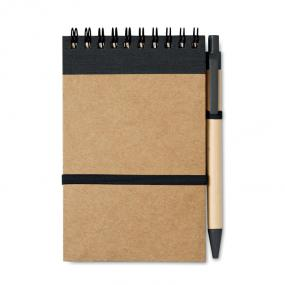 Notebook (70 fogli neutri) con elastico in carta ricicl...