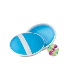 Set gioco da spiaggia composto da una palla con ventose...