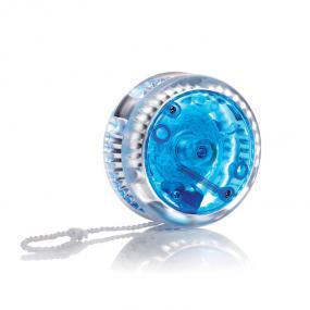 Yo-yo con luce. In plastica. 2 pile bottone incluse.