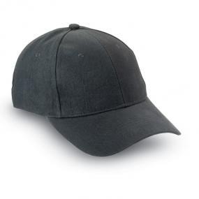 Cappellino 6 pannelli in cotone pettinato, fascetta reg...