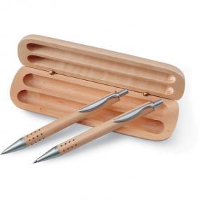 Set penna a sfera e matita con meccanismo a scatto in c...