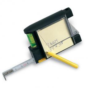 Flessometro (200 cm) con memo pad, penna a sfera e live...