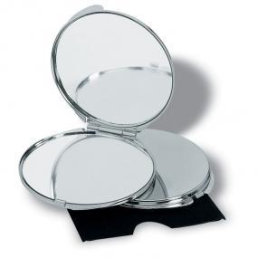 Specchietto con riflesso reale ed ingrandito, in metall...