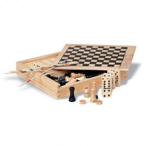 Set giochi 4in1: scacchi, dadi, mikado e domino. Scatol...