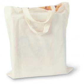 Shopper con manici corti. In cotone 105gr/m².