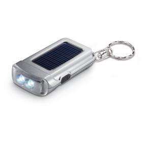 Portachiavi con torcia 2 LED ad alimentazione solare co...