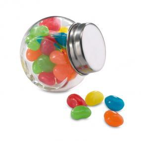 30 grammi di gelatine dolci colorate contenute in un ba...