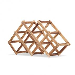 Portabottiglie pieghevole in legno di pino. Per 6 botti...