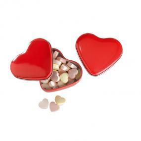 Porta caramelle (24 gr. inclusi) a forma di cuore. In l...