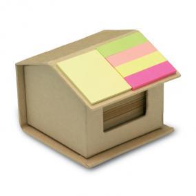 Set memo (300 fogli) e 4 adesivi colorati in supporto a...