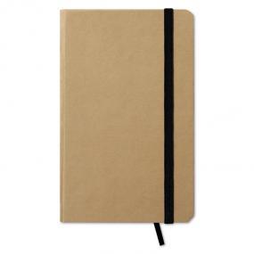 Notebook (96 fogli neutri) in cartone riciclato con nas...