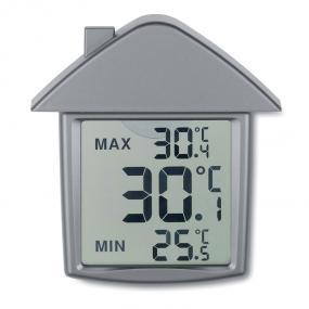 Termometro a forma di casa con ventosa per vetro o cera...